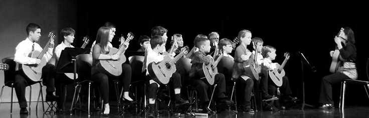 Knight Music Academy guitar students holiday recital