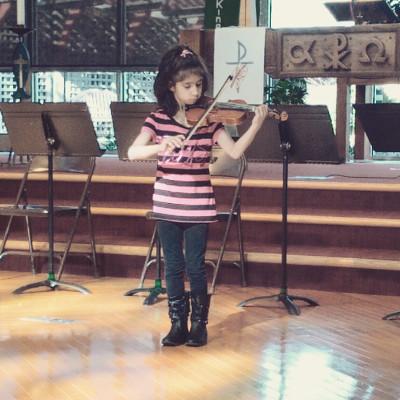 Knight Music Academy Violin Student