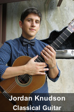 Jordan Knudson, Classical Guitar Instructor