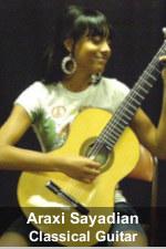 Araxi Sayadian, Classical Guitarist